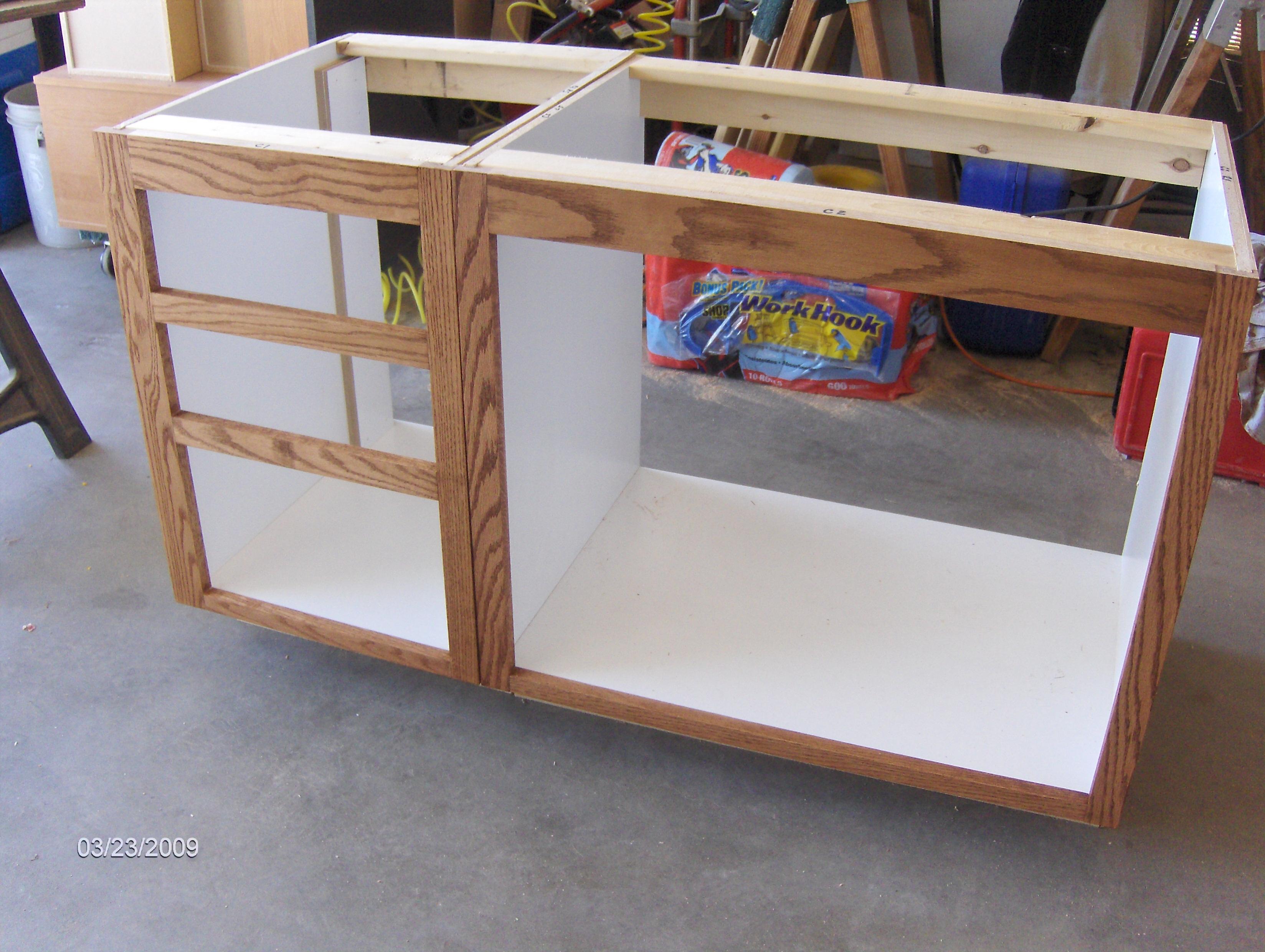 frames finished - hall bath